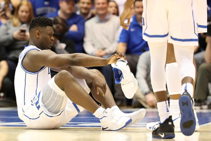 Duke S Zion Williamson Has 8m Loss Of Value Insurance Policy