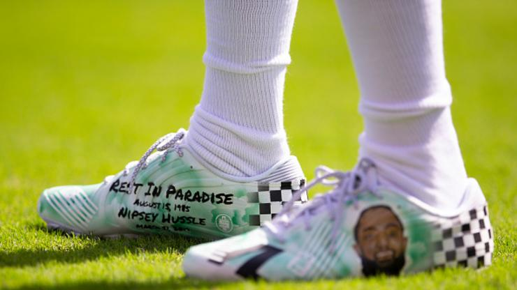 Eagles' DeSean Jackson Honors Nipsey Hussle With Custom